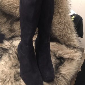 Shoes - Born Suede Navy Boots